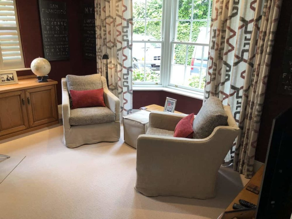 Pair of besoke upholstered chairs