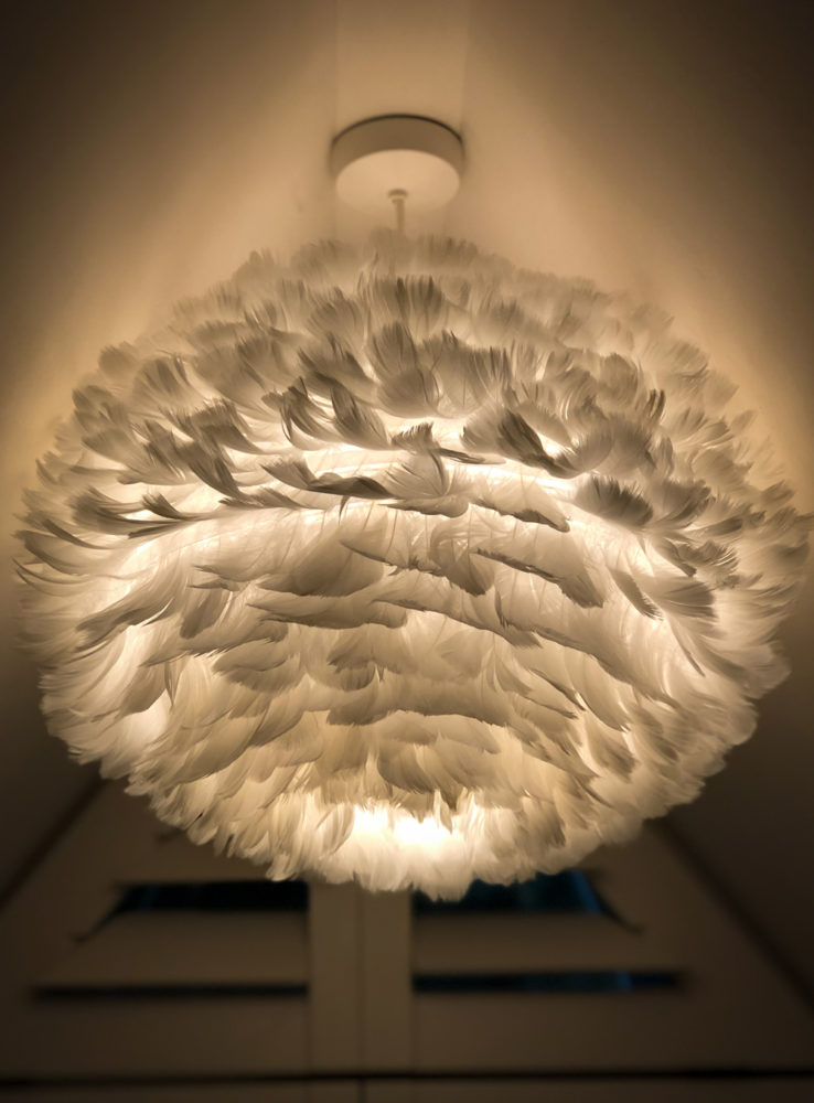 cosy-modern-feather lampshade