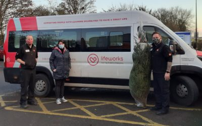 A Tree-mendous Gift for Lifeworks Charity from B&Q